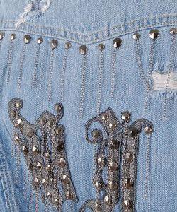 Versace Destructed Denim Jacket