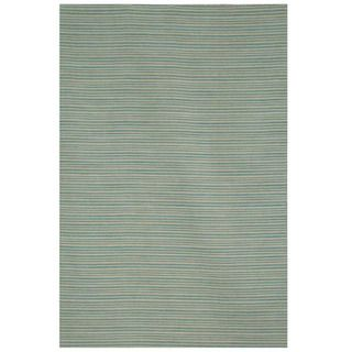Hand tufted Flat Weave Green/ Grey Wool Rug (8 x 10)