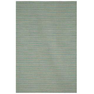 Hand tufted Flat Weave Green/ Grey Wool Rug (8 x 10)