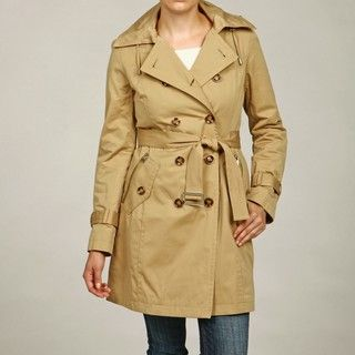 Michael Kors Womens Double breasted Trench Coat