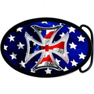 Patriotic Iron Cross Belt Buckle Clothing