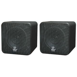Pyle 4 inch 200 Watt Mini Cube Bookshelf Speakers (Refurbished