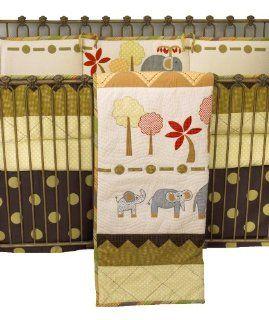 Cotton Tale Elephant Brigade 4 Piece Crib Bedding Set