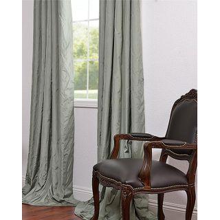 Jardin 108 inch Green Solid Faux Silk Taffeta Curtain Panel