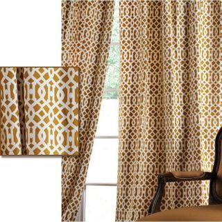 Nairobi Desert Printed Cotton 108 inch Curtain Panel
