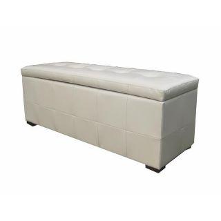 Ivory Bi cast Leather Storage Bench