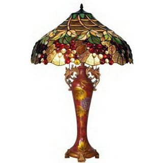 Grapes Handcrafted Stained Glass Tiffany Style Table Lamp Today $251