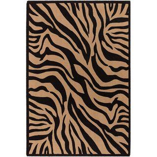 Flat weave Mandara Zebra Print Flora Rug (79 x 106)