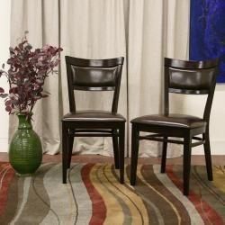 Serena Dark Brown Modern Dining Chairs (Set of 2)