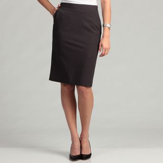 Calvin Klein Womens Pinstripe Straight Skirt