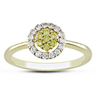 14k Yellow Gold 1/4ct TDW Yellow and White Diamond Ring (G H, I2