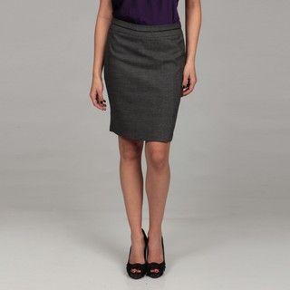 Flirtatious Juniors Black Tweed Slim Pencil Skirt