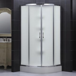 DreamLine Complete Quarter round Frosted Glass Door Shower Kit See