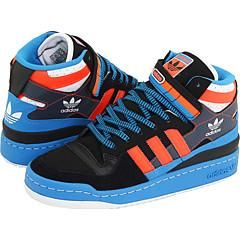 adidas Originals Forum Mid Black/Infrared/Pool Athletic   Size 14 D