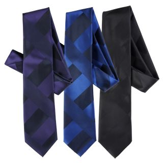 Boston Traveler Mens Mod Print Microfiber Tie and Hanky Set