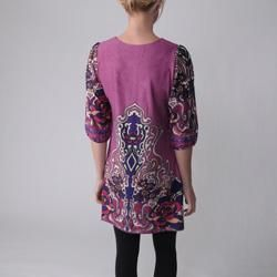 Funky People Juniors Floral Print Tunic Dress