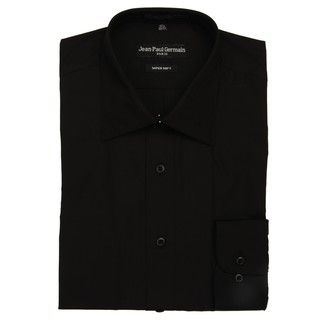 Jean Paul Germain Mens Black Convertible Cuff Dress Shirt