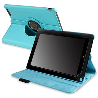BasAcc Ligh Blue Leaher Swivel Case for Barnes & Noble Nook HD+