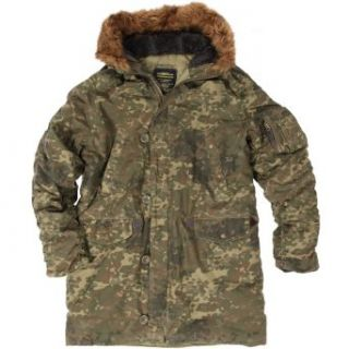 Alpha Industries Mens Slim Fit N 3B Parka Clothing