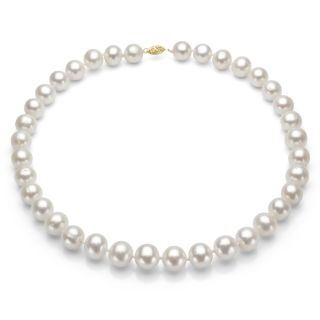 14k gold white high luster fw pearl necklace 7 5 8 mm 24 in msrp $ 209