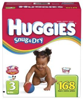 Huggies Snug & Dry Diapers, Size 3, 168 Count