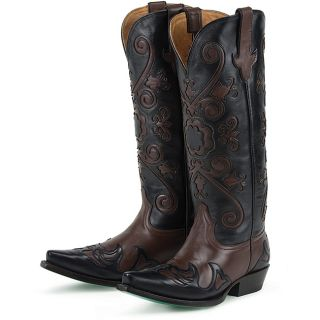 Lane Boots Womens Brown/ Black Margaret Cowboy Boots