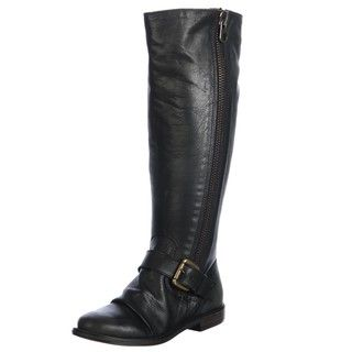 Steve Madden Womens P Lakke Black Riding Boots FINAL SALE