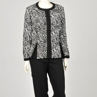 John Meyer Womens Plus Size Zebra Pant Suit