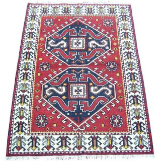 Kazak Hand knotted Red/ Ivory Rug (4 x 6) Today $219.99
