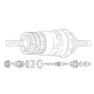 Shimano SG 3C40 Inernal Assembly 175mm Axle Spors