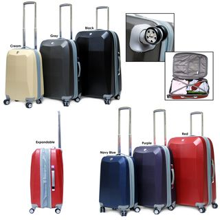 CalPak Diamond 3 piece Hardside Spinner Luggage Set