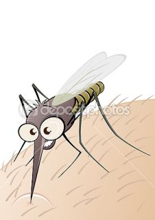 Angry cartoon mosquito  Stock Vector © Dietmar Höpfl #12038914