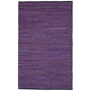 Hand woven Matador Purple Leather Rug (4 x 6) Today $47.49 4.0 (7