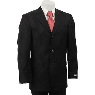 Kenneth Cole New York Slim Fit Collection Mens Black Pinstripe Suit