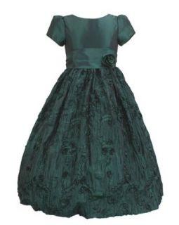 Sage Green Flower Patterned Long Dress Rose Corsage Tide