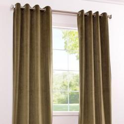 Grommet Moss Green Velvet 108 Inch Curtain Panel