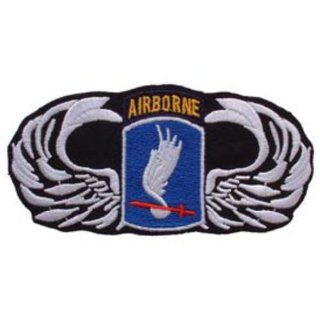 U.S. Army 173rd Airborne Wing Patch Black & White 3
