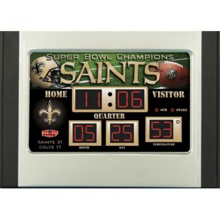 New Orleans Saints Scoreboard Desk Clock