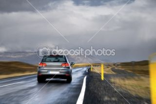 Car on a road in a countryside  Foto Stock © Maksim Toome #8184078
