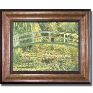 Claude Monet Japanese Footbridge Framed Canvas Art Today $84.99