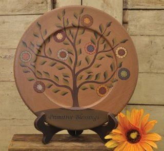 Plate & Stand   Primitive Blessings Tree   Country Rustic