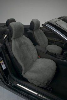 Genuine Australian Sheepskin Sideless Seat Cover   Gray