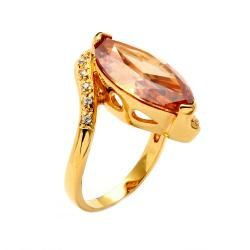 Lillith Star Goldplated Champagne CZ Ring