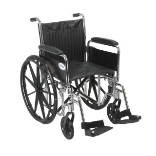 Drive Medical Chrome Sport 20 inch Wheelchair Today $205.99