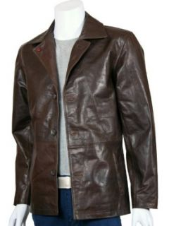 Xport Designs Mens Dark Brown Winchester Leather Coat