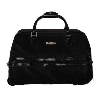 Anne Klein 18 inch Downtown Rolling Bowler Carry on Upright Duffel Bag