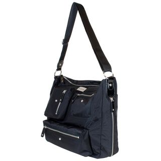 Amy Michelle Womens Iris Black Laptop Tote Bag