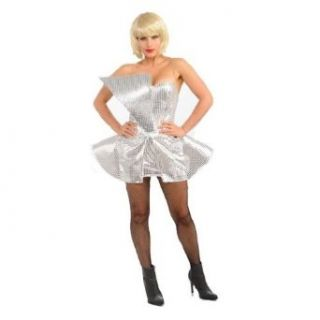 Lady Gaga Silver Sequin Dress Costume Clothing