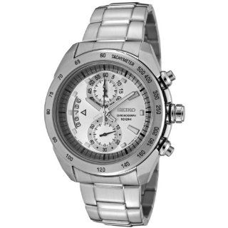 Seiko Mens SNN177P Chronograph Stainless Steel Watch Watches