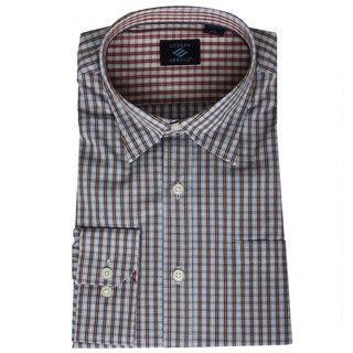 Joseph Abboud Mens Mini Check Woven Shir